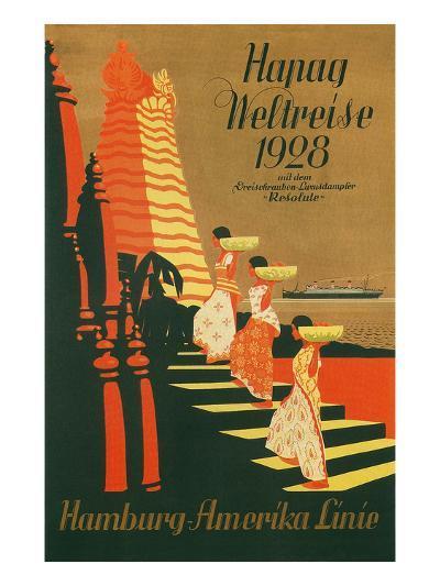 HAPAG World Cruise, Travel Poster--Art Print