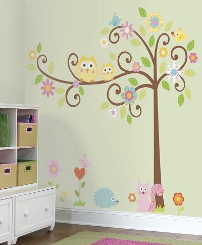 Happi Scroll Tree Peel & Stick Wall Decal MegaPack--Wall Decal