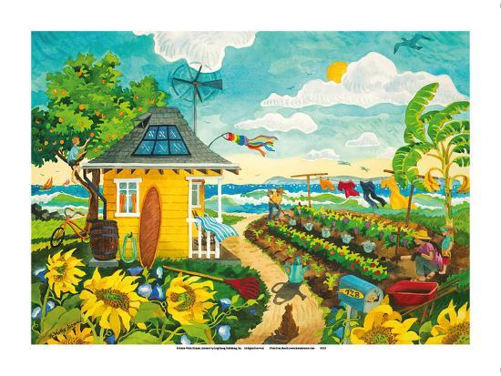 Happily Ever After - Tropical Paradise Beach House - Hawaii - Hawaiian Islands-Robin Wethe Altman-Premium Giclee Print