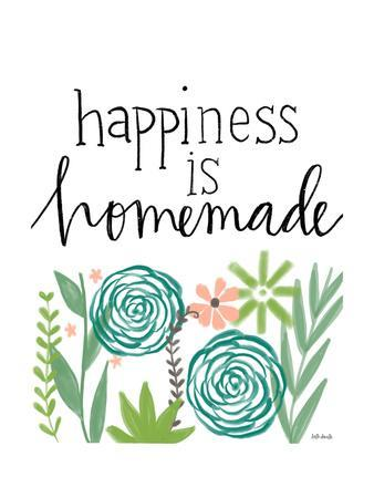 photo about Happiness is Homemade referred to as Contentment is Selfmade Artwork Print as a result of Katie Doucette