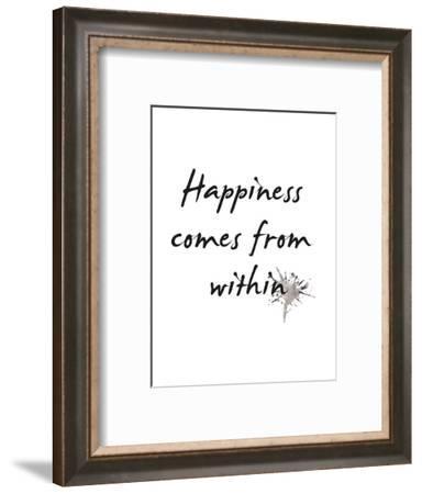 Happiness-Design Fabrikken-Framed Art Print