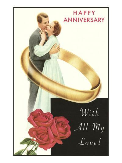 Happy Anniversary, Couple in Wedding Band--Art Print