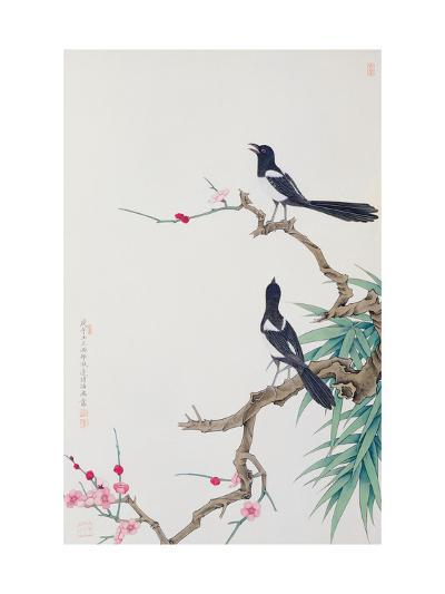 Happy Birds in Plum Tree-Hsi-Tsun Chang-Giclee Print