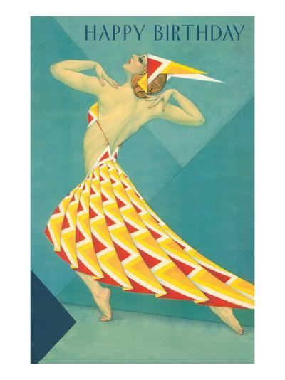 Happy Birthday, Art Deco Dancer--Art Print