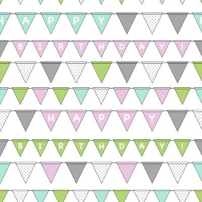 Happy Birthday Bunting Girl-Joanne Paynter Design-Giclee Print