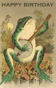 Happy Birthday, Frog with Banjo