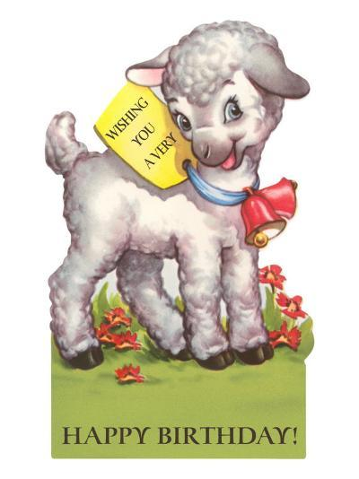 Happy Birthday Lamb Art Print By Art Com