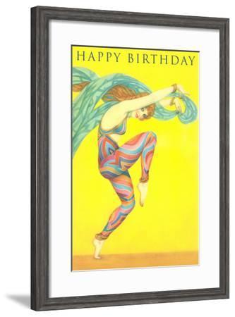 Happy Birthday, Modern Dancer--Framed Art Print
