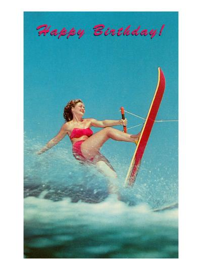 Happy Birthday, Trick Water Skier--Art Print