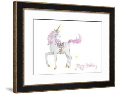 Happy Birthday Unicorn-Christiane Montag-Framed Giclee Print
