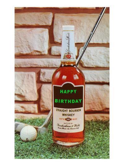 Happy Birthday, Whiskey and Golf--Art Print