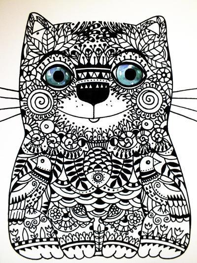 Happy Cat-Oxana Zaika-Giclee Print