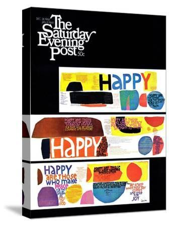 """""""Happy Collage,"""" Saturday Evening Post Cover, December 28, 1968"""