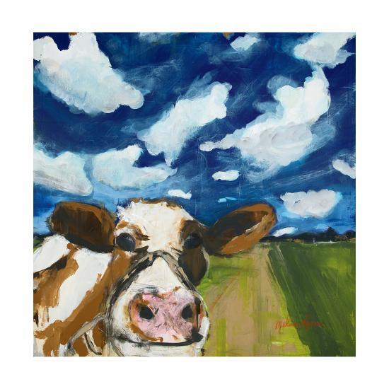 happy cow art print by melissa lyons art com