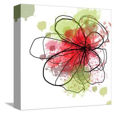 Happy Day Abstract Red-Irena Orlov-Stretched Canvas Print