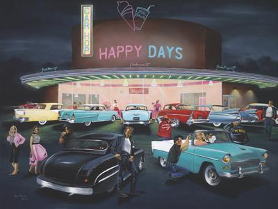 Happy Days-Geno Peoples-Giclee Print