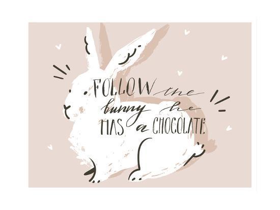 Happy Easter Bunny-Helter skelter-Art Print