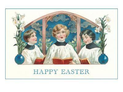 Happy Easter, Three Altar Boys--Art Print