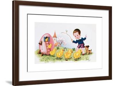 Happy Easter--Framed Giclee Print