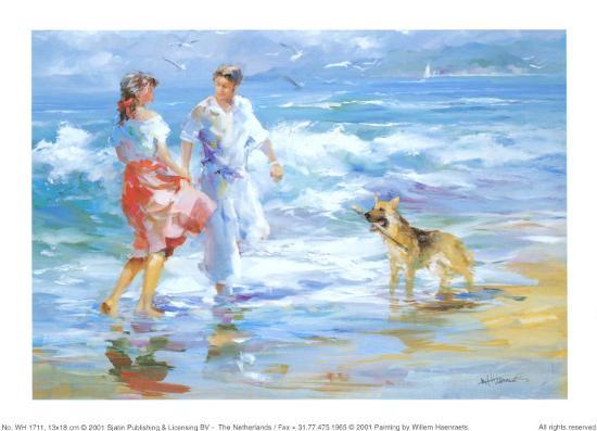 Happy Family 1-Willem Haenraets-Art Print