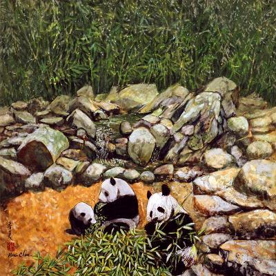 Happy Family (Pandas) 1993-Komi Chen-Giclee Print