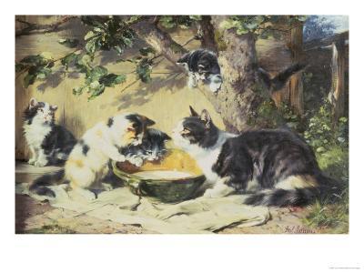 Happy Family-Julius Adam-Giclee Print