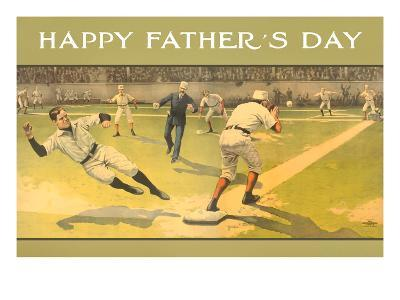 Happy Father's Day, Old Time Baseball Game--Art Print