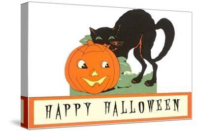 Happy Halloween, Cat and Jack O'Lantern