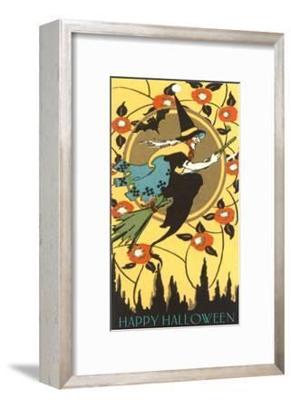 Happy Halloween, Witch on Broom