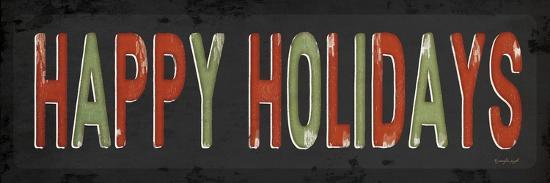 Happy Holidays Christmas-Jennifer Pugh-Art Print