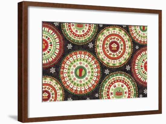 Happy Holidogs VII-Veronique Charron-Framed Art Print