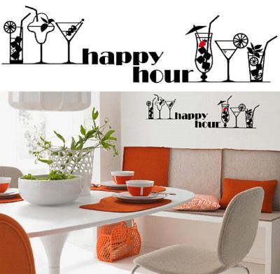 Happy Hour 13 Wall Stickers--Wall Decal