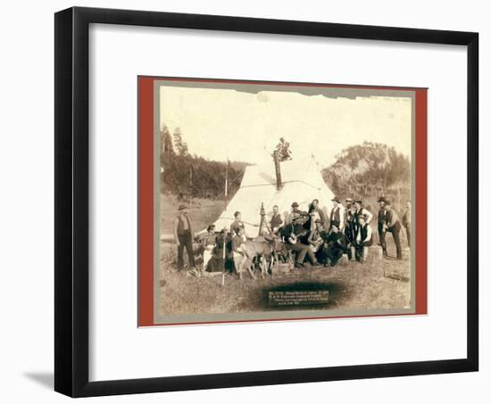 Happy Hours in Camp. G. and B.&M. Engineers Corps and Visitors-John C. H. Grabill-Framed Giclee Print