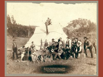 Happy Hours in Camp. G. and B.&M. Engineers Corps and Visitors-John C. H. Grabill-Giclee Print