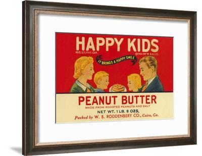 Happy Kids Peanut Butter--Framed Art Print