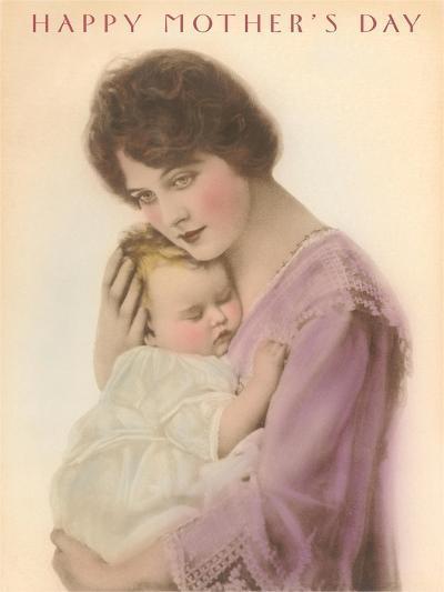 Happy Mother's Day, Sleeping Child--Art Print