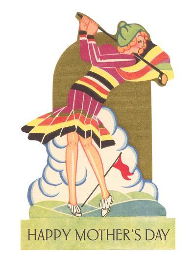 Happy Mothers Day, Lady Golfer--Art Print