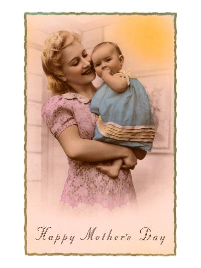 Happy Mothers Day, Mother and Child--Art Print