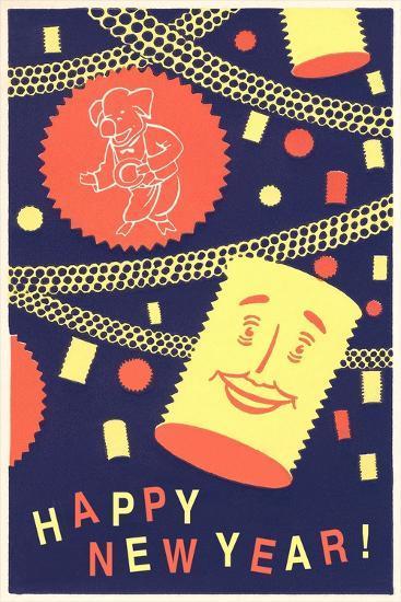 Happy New Year from Pasta--Art Print