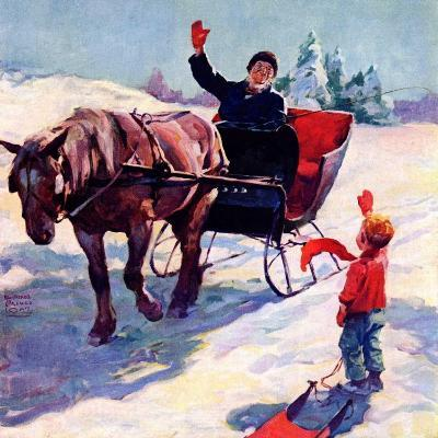 """""""'Happy New Year',""""January 1, 1928-William Meade Prince-Giclee Print"""