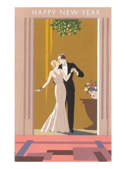 Happy New Year, Patricians Kissing--Art Print