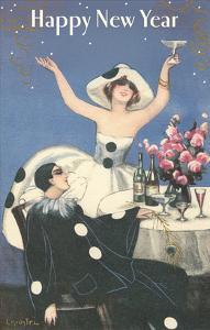 Happy New Year, Pierrot Celebrating
