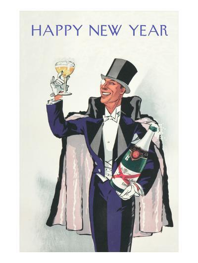 Happy New Year, Swell with Champagne--Art Print