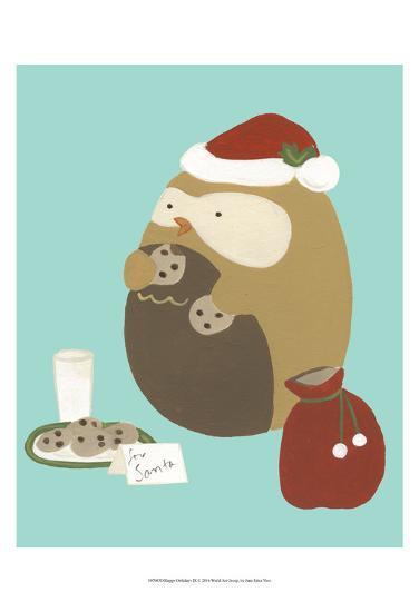 Happy Owlidays IX-June Erica Vess-Art Print