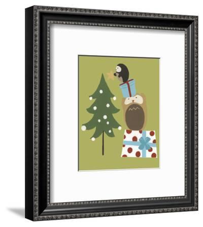 Happy Owlidays VI-June Vess-Framed Art Print