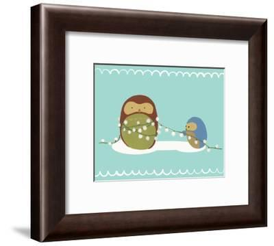 Happy Owlidays VII-June Vess-Framed Art Print