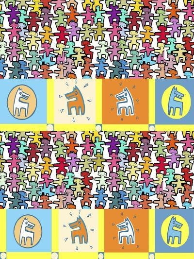 Happy People and Dogs-Miguel Balb?s-Giclee Print