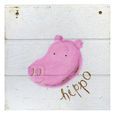 Happy Pink Hippo-Erin Butson-Art Print
