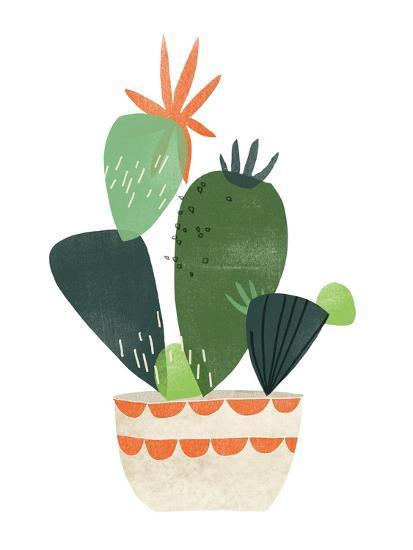 Happy Plants IV-June Erica Vess-Art Print