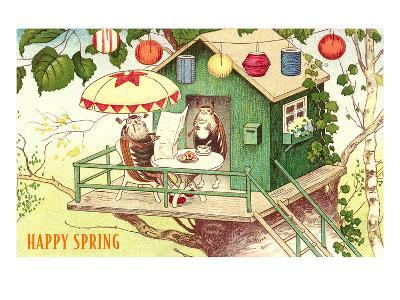 Happy Spring, Beetles at Breakfast--Art Print